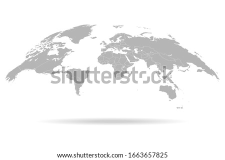 World map. 3D globe world map. Vector Illustration