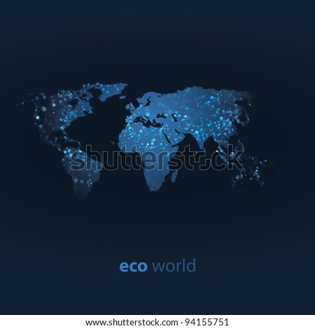 world map design