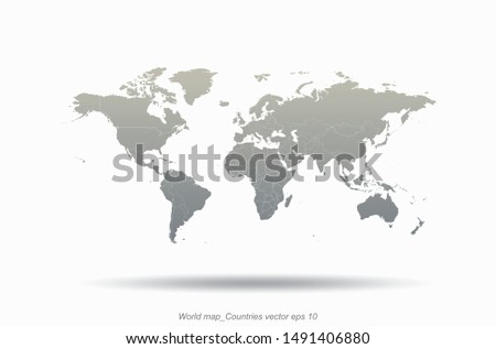 world map. detailed graphic vector of countries world map.