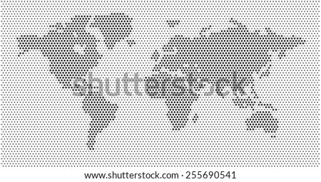Vector dotted grey scale world map download free vector art world map dots scaled dark gray dots white background gumiabroncs Image collections
