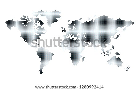 World map dots vector #1280992414