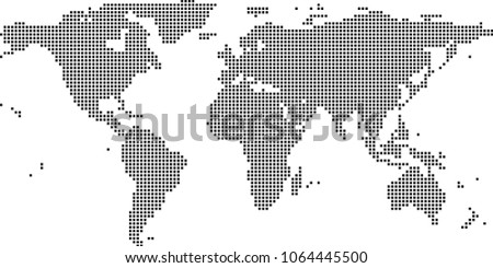 Vector high detailed dotted world map illustration download free world map dots vector illustration background dotted map of world creative pixel art map gumiabroncs Gallery