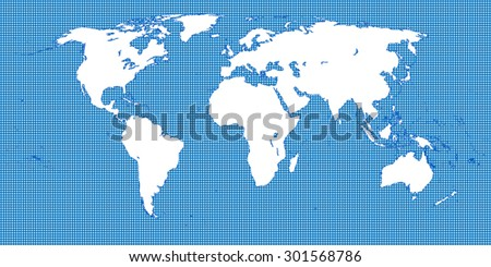 world map dotted blue 2 medium dots