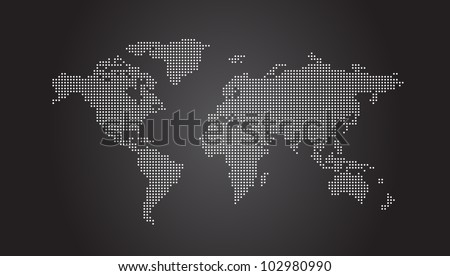 Dotted world map vector download free vector art stock graphics world map dotted vector eps10 publicscrutiny Gallery