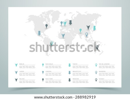 world map dotted vector with