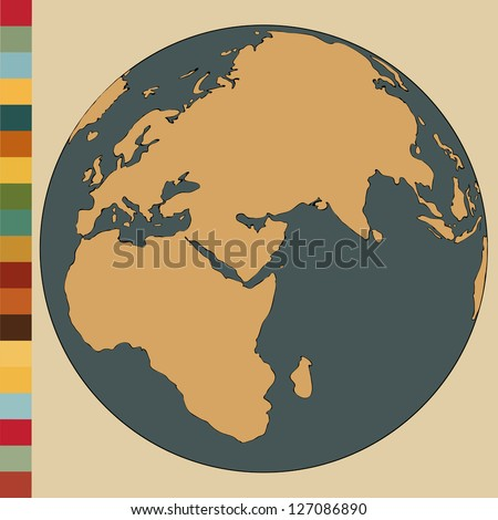 World Map Earth Globe Vector Illustrator EPS 10
