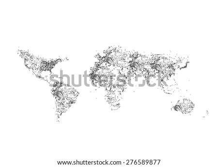 9 Stylish Vector World Map Vector Download Free Vector Art Stock