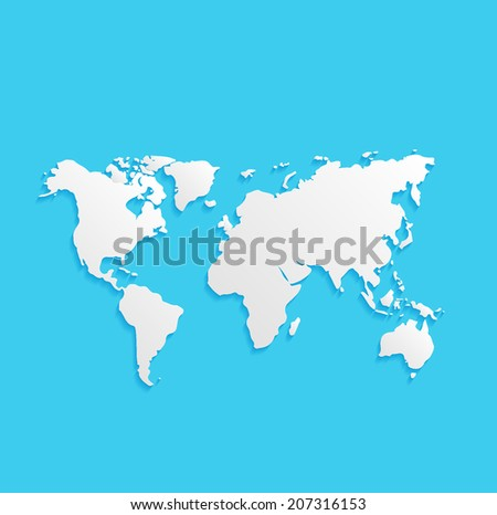 Free earth globe vector flat icons download free vector art world map flat icon isolated on a blue background for your design vector illustration gumiabroncs Gallery