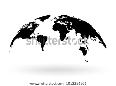 world map globe isolated on