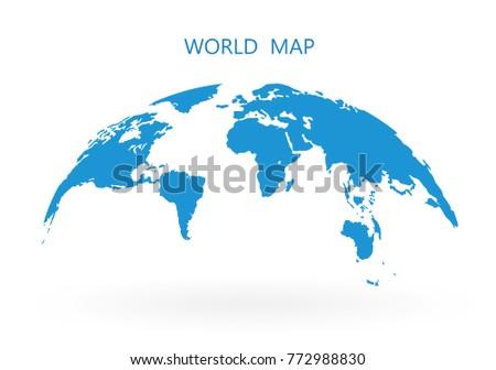 world map globe isolated on