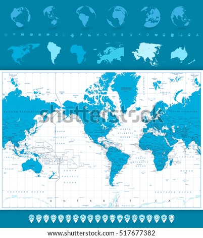 world map  globes and