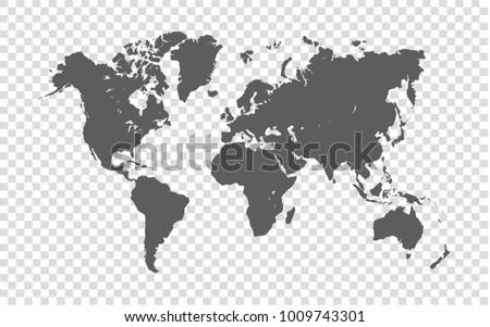 Vector del mapa del mundo blanco descargue grficos y vectores gratis world map gray map of world on transparent background vector illustration eps10 gumiabroncs Image collections