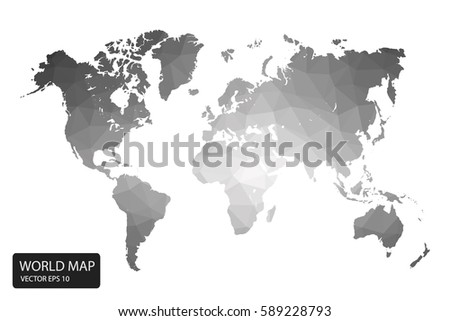 Free low poly background globe vector download free vector art world map gray vector illustration in polygonal style on white background vector illustration eps 10 gumiabroncs Images