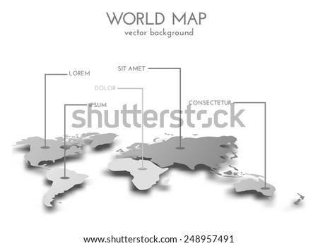 Grayscale vector worldmap download free vector art stock graphics world map grayscale infographics background vector eps10 gumiabroncs Images