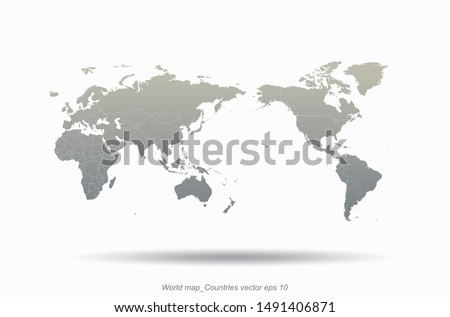 world map. high quality graphic vector of countries world map. world countries infographic map.