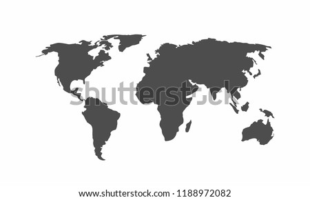 World map icon vector. Mail Icon Symbols vector. symbol for web site Computer and mobile vector.