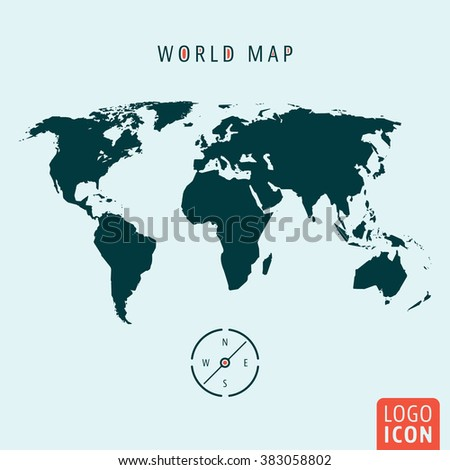 world map icon world map with