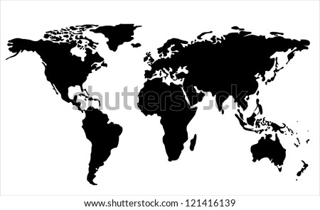 World map silhouette download free vector art stock graphics images world map illustration gumiabroncs