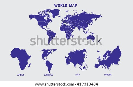 North america map vector download free vector art stock graphics world map illustration gumiabroncs Image collections