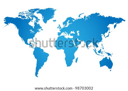 World Map Illustration - stock vector