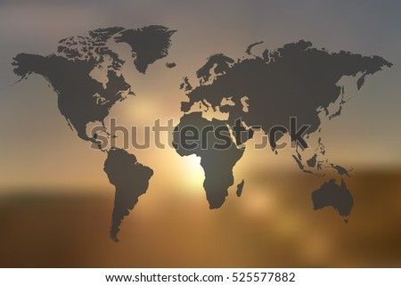 world map illustration on a