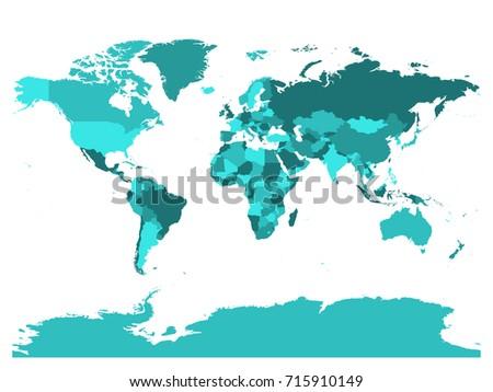 Vector Detailed Green World Map Download Free Vector Art Stock - Blank world map green