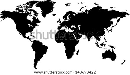 World Map Silhouette Download Free Vector Art Stock Graphics Images
