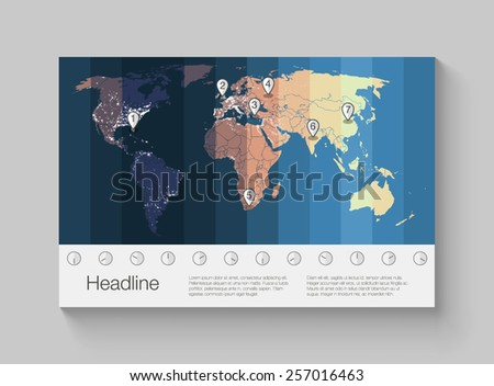 World time zones download free vector art stock graphics images world map infographics with clear illustration of time zones gumiabroncs Choice Image