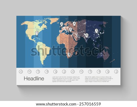 world map infographics with