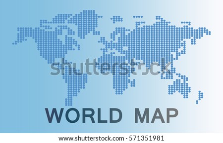 World map made with dots download free vector art stock graphics world map is made up of dots gray blue background gumiabroncs Image collections
