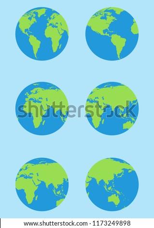 World map isolated on white background. Earth, globe icon. Vector