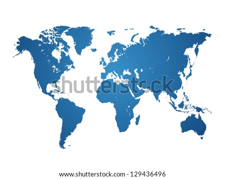 World Map isolated - vector illustration