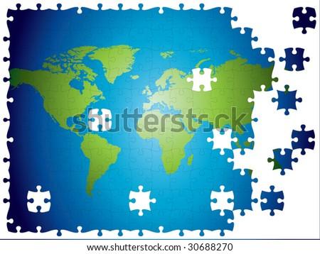 Mundo del rompecabezas descargue grficos y vectores gratis world map jigsaw layered and fully editable gumiabroncs Images