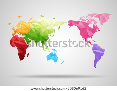 9 stylish vector world map vector download free vector art stock world map low poly design origami planet vector illustration gumiabroncs Image collections