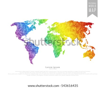 world map made of full color
