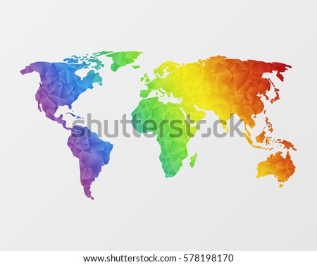 Free vector mosaic world map download free vector art stock world map made of full color mosaic of polygonal gumiabroncs Choice Image