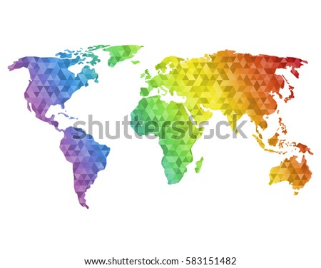 Free vector mosaic world map download free vector art stock world map made of full color mosaic of polygonal gumiabroncs Image collections