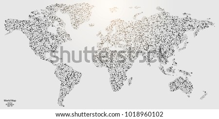 Abstract world map made with network lines descargue grficos y world map made of lines and triangles the connection point of the network vector gumiabroncs Choice Image