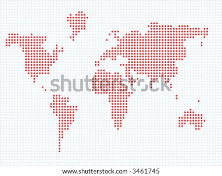 World map made with dots descargue grficos y vectores gratis world map made up from dots gumiabroncs Choice Image