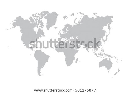 World map made with a dot pattern #581275879