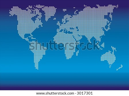 World map made with dots descargue grficos y vectores gratis world map made with dots on blue background gumiabroncs Choice Image
