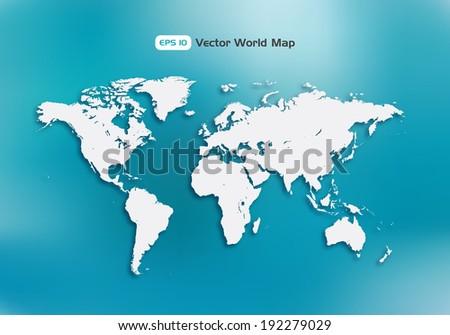 World map. Multi purpose concept. Vector design element.