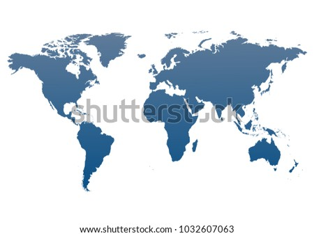 Worldmap silhouette free vector download free vector art stock world map of continets blue world map isolated on white background flat earth template gumiabroncs Gallery