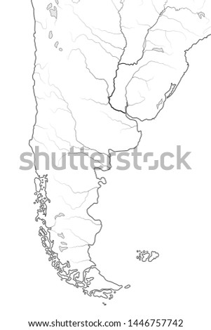 world map of patagonia in south