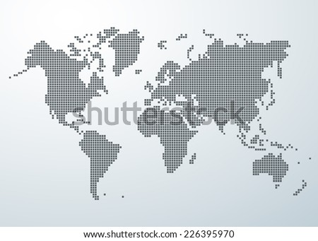 Free vector pixel world map download free vector art stock world map of square concept gumiabroncs Images