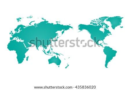 World map of vector illustration