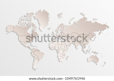 Iconswebsite icons website search over 28444869 icons icon world map paper political map of the world on a gray background countries gumiabroncs Image collections