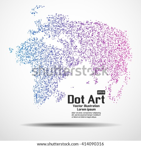 world map point vector
