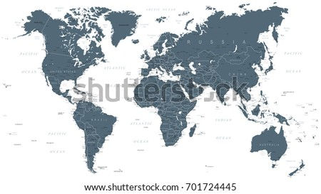 Grayscale vector worldmap download free vector art stock graphics world map political grayscale vector illustration gumiabroncs Gallery