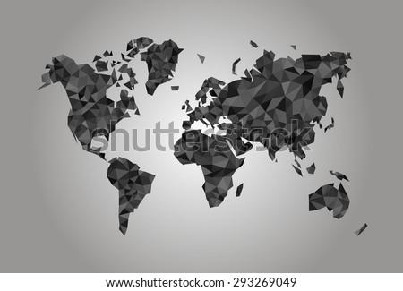 world map polygonal precision